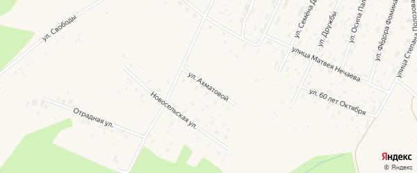 Улица Ахматовой на карте Савинского поселка с номерами домов