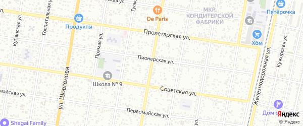 Заводская улица на карте Майкопа с номерами домов