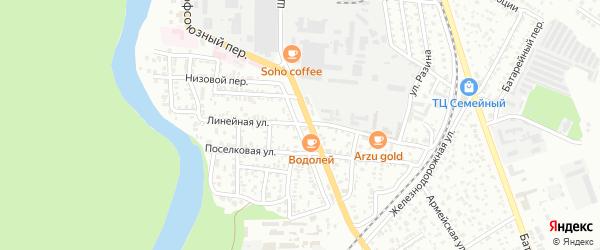 Линейная улица на карте садового некоммерческого товарищества Виктории с номерами домов