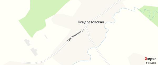 Центральная улица на карте деревни Гридино с номерами домов