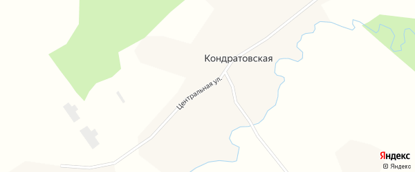 Центральная улица на карте Климовской деревни с номерами домов