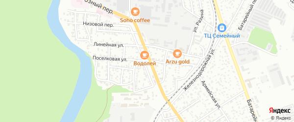 Поселковая улица на карте Майкопа с номерами домов