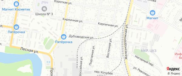 Дубзаводская улица на карте Майкопа с номерами домов