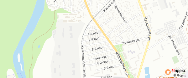 2-й переулок на карте Майкопа с номерами домов