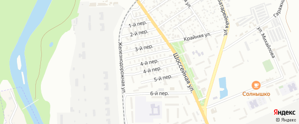 4-й переулок на карте Майкопа с номерами домов