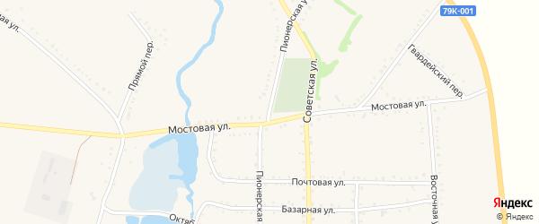 Пионерская улица на карте Келермесской станицы с номерами домов