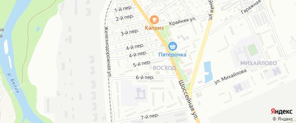5-й переулок на карте Озерного садового некоммерческого товарищества с номерами домов