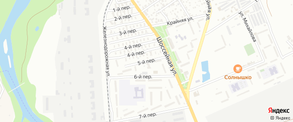 5-й переулок на карте Майкопа с номерами домов