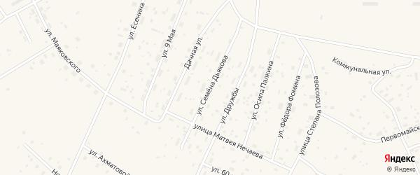 Улица Семена Дьякова на карте Савинского поселка с номерами домов