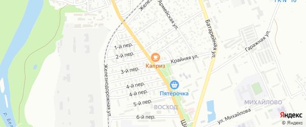 Шоссейная улица на карте садового некоммерческого товарищества Севера с номерами домов