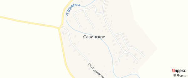 Луговая улица на карте Савинского села с номерами домов
