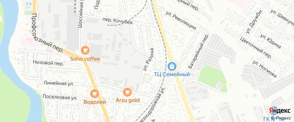 Переулок Разина на карте Майкопа с номерами домов