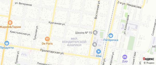 Подгорная улица на карте хутора Северо-Восточные Садов с номерами домов