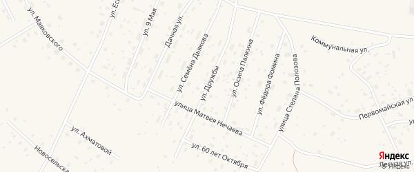 Улица Дружбы на карте Савинского поселка с номерами домов