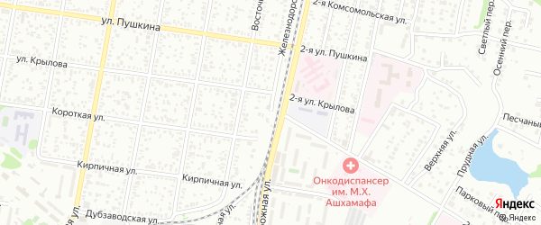 Железнодорожная улица на карте садового некоммерческого товарищества Лесной сказки с номерами домов