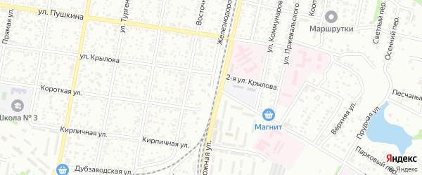 Железнодорожная улица на карте Майкопа с номерами домов