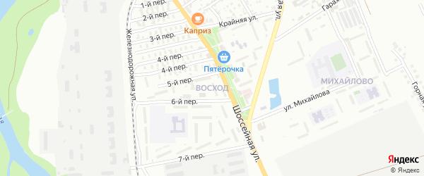 Улица Восход на карте садового некоммерческого товарищества Восхода с номерами домов