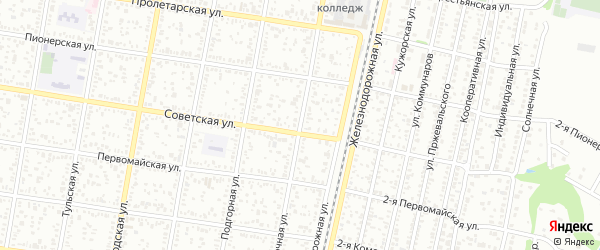 Восточная улица на карте Майкопа с номерами домов