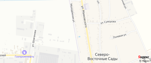 Молодежная улица на карте Северного поселка с номерами домов