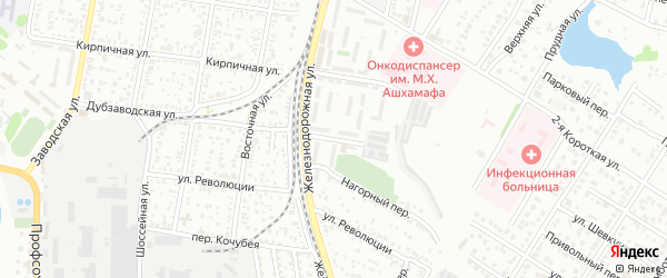 Дубзаводская 2-я улица на карте Майкопа с номерами домов