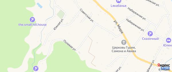 Колхозная улица на карте села Хамышек с номерами домов