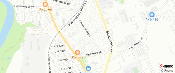 Кавалерийская улица на карте Майкопа с номерами домов