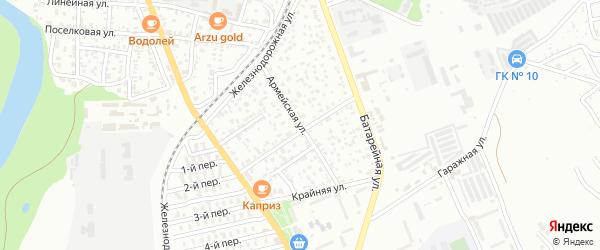 Армейская улица на карте Майкопа с номерами домов
