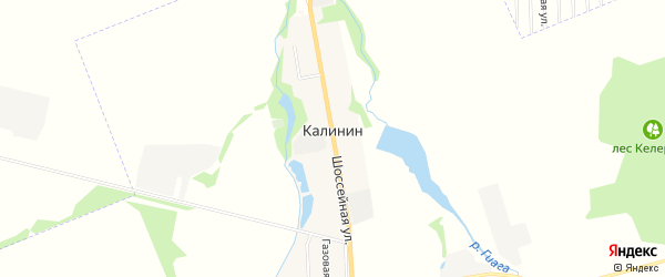 Карта хутора Калинина в Адыгее с улицами и номерами домов