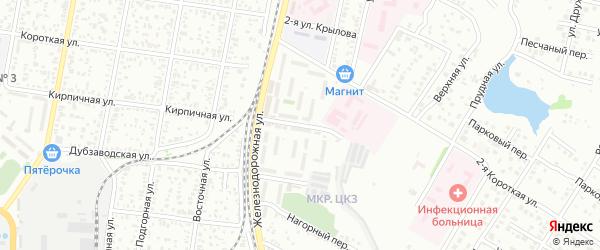 Кирпичная 2-я улица на карте Майкопа с номерами домов