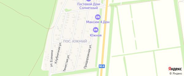 Придорожная улица на карте садового некоммерческого товарищества Росинки с номерами домов