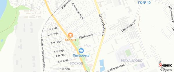 Крайняя улица на карте садового некоммерческого товарищества Севера с номерами домов