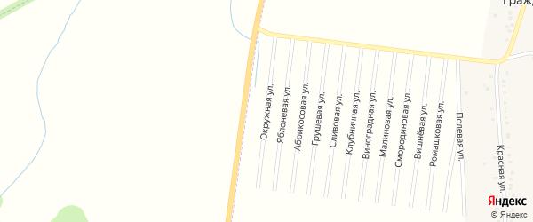 Окружная улица на карте садового некоммерческого товарищества Малиновки с номерами домов