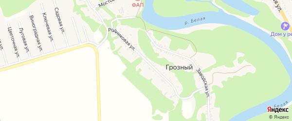 Родниковая улица на карте садового некоммерческого товарищества Зари с номерами домов