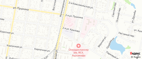 Крылова 2-я улица на карте Майкопа с номерами домов