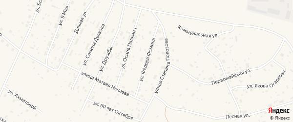 Улица Федора Фомина на карте Савинского поселка с номерами домов