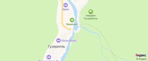 Заречная улица на карте поселка Гузерипля с номерами домов