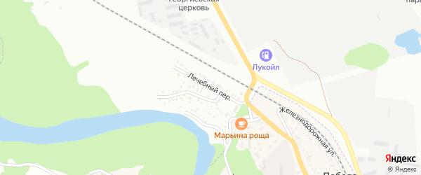 Лечебный переулок на карте Майкопа с номерами домов