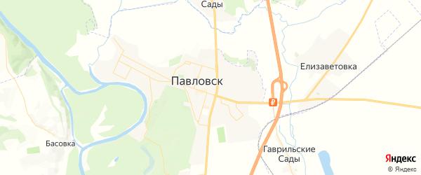 Карта Павловска с районами, улицами и номерами домов