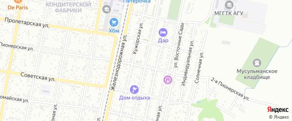Улица Коммунаров на карте Майкопа с номерами домов