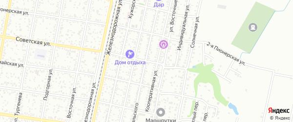 Советская 2-я улица на карте Майкопа с номерами домов