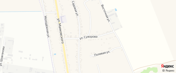 Улица Суворова на карте Первомайского поселка с номерами домов