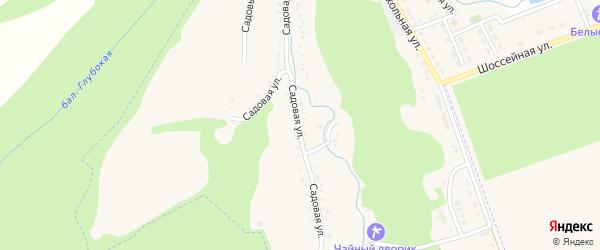Садовая улица на карте садового некоммерческого товарищества Нефтяника с номерами домов