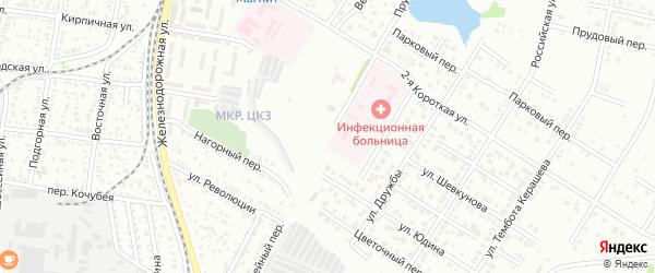 Батарейный переулок на карте Майкопа с номерами домов