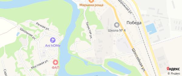 Тенистая улица на карте поселка Победы с номерами домов