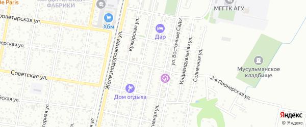 Улица Пржевальского на карте Майкопа с номерами домов