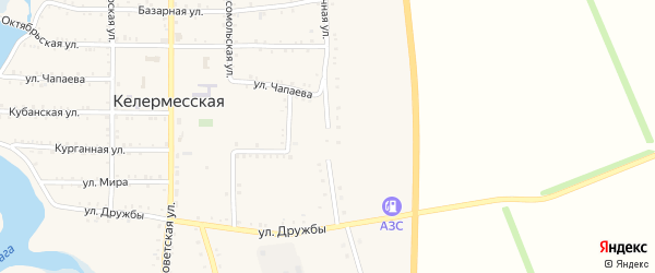 Восточная улица на карте Келермесской станицы с номерами домов