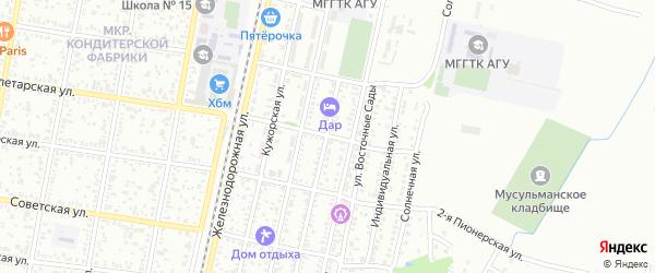 Пролетарская 2-я улица на карте Майкопа с номерами домов