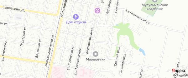 Улица Восточные Сады на карте Майкопа с номерами домов