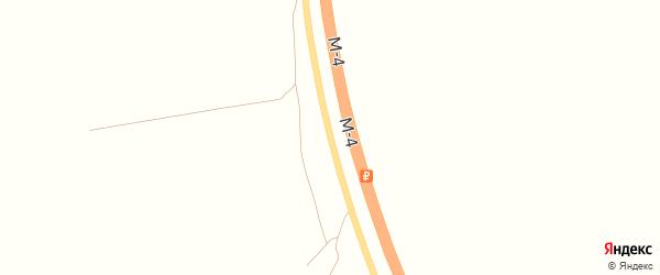 Территория трасса М-4 Дон на карте хутора Псекупса с номерами домов