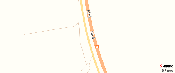 Дорога А/М М-4 ДОН на карте поселка Тлюстенхабля с номерами домов